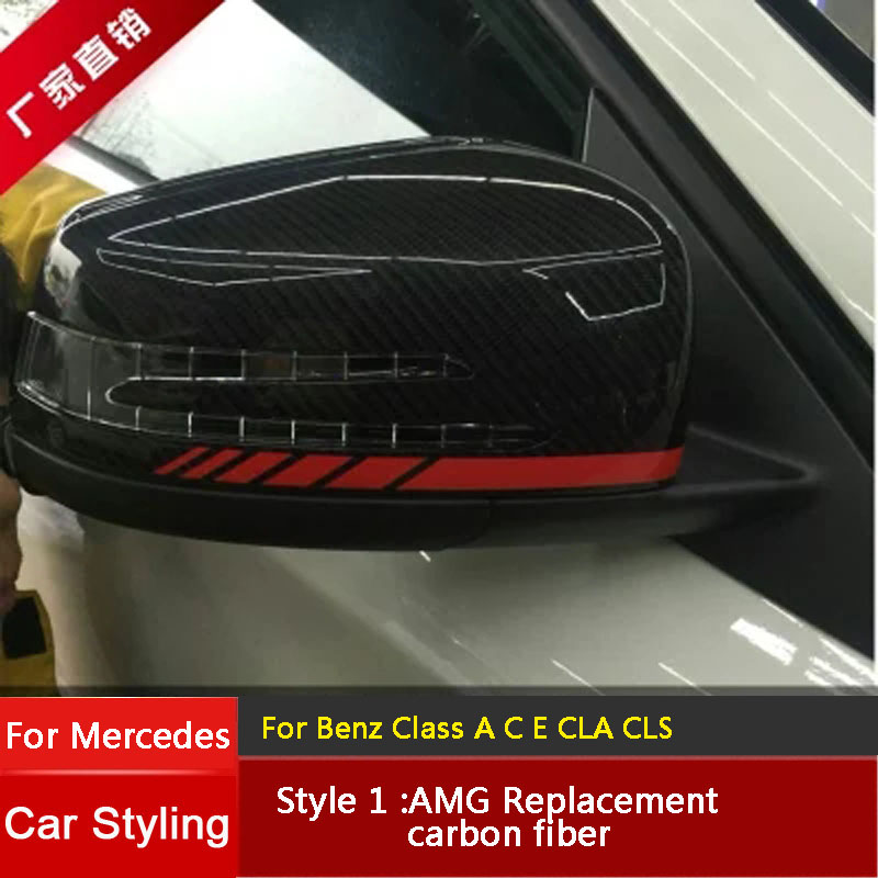 Car Rearview Mirror Refiting For Mercedes Benz A B C E S CLS GLK Class W176 W204 W246 W221 W212 W218 Rearview Mirror Shell 2pc welcome car door light led laser logo projector for mercedes benz w212 w205 w176 c204 s212 x166 w246 w242 amg e b c ml class