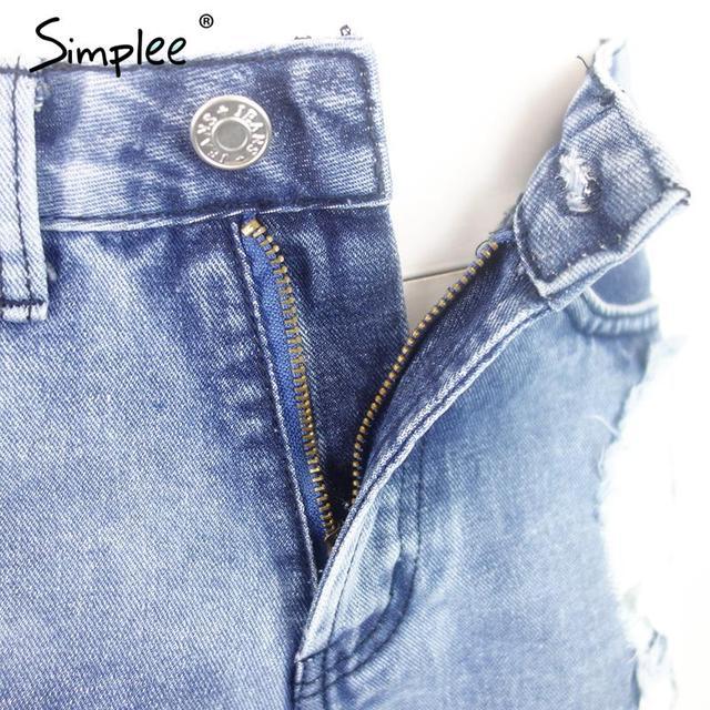 Ripped Pocket Denim Vintage Shorts