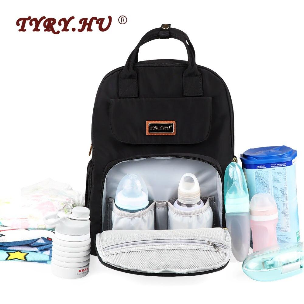 Fashion Mummy Maternity Bag USB Multi function Bottle Insulation Diaper Bag Large Capacity Baby Stroller Bag