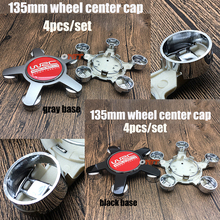 Red 3D WRC Sticker 5claws 135mm 4pcs/set Wheel Center Cap Accessorie Car Styling Hub Rim Cap Cover for BMW Toyota ford vw kia