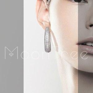 Image 3 - Modemangel Hợp Thời Trang Sang Trọng Vòng Vòng Tròn Full Micro Đính Đá Cubic Zirconia Cưới Trang Sức Nữ Cô Gái Đồng Tai Khuyên Phụ Kiện