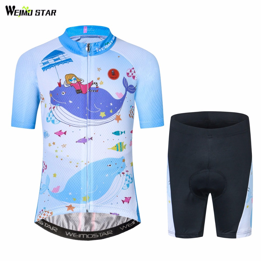 WEIMOSTAR Bike Jersey Clothing Maillot Riding Ropa-Ciclismo Children Blue Mtb Summer