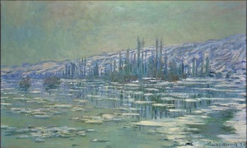 High quality Oil painting Canvas Reproductions Ice Floes on Siene (1880) By Claude Monet hand painted