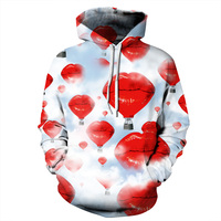 PLstar Cosmos Brand clothing Funny 3D Hoodies 2017 Autumn New Hoodie Sexy lips printing Women Men casual hooded sweatshirt R3732