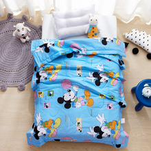 Disney Mickey Bed Quilt Comforter Quilted Kids Baby Cotton Soft  Bedding Air Conditioner Duvet Summer Quilts for Children