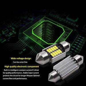 Image 3 - 2 Chiếc 42Mm LED Ánh Sáng Trắng 6500K SMD Xe Mái Vòm Đôi Đầu Đèn Đọc Sách Mái Bóng Đèn LED đèn Cho Xe Ô Tô Bản Đồ Mái Vòm Đèn