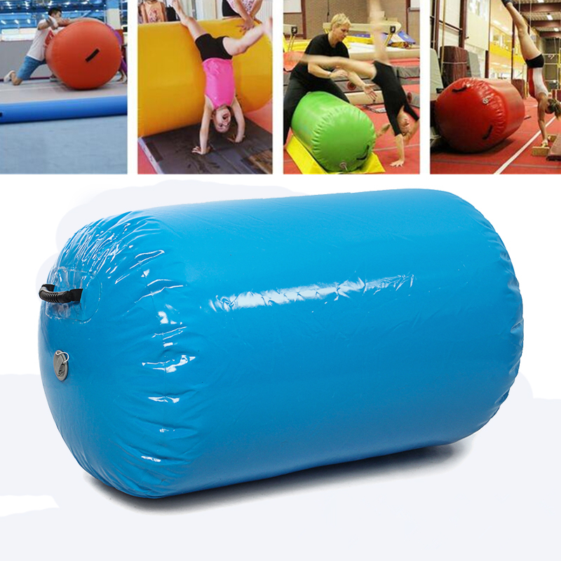 Inflatable Gymnastics Mat Air Rolls Balance Air Barrel Home Fitness Exercise Training Roller Beam Gymnastic Equipment gymnastics mat thick four folding panel fitness exercise 2 4mx1 2mx3cm