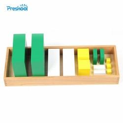 Zabawka dla dziecka Montessori moc 3 kostek drewno wczesna edukacja dziecięca przedszkole szkolenia zabawki dla dzieci Juguetes