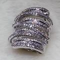 Victoria Wieck anel Dos Homens Das Mulheres Da Moda Ampla Jóias 20ct diamante simulado Cz 925 Sterling Silver Engagement Wedding Band Anel