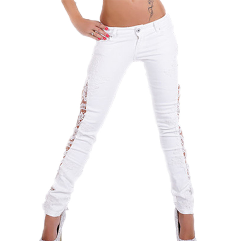 Online Buy Wholesale skinny white jeans from China skinny white