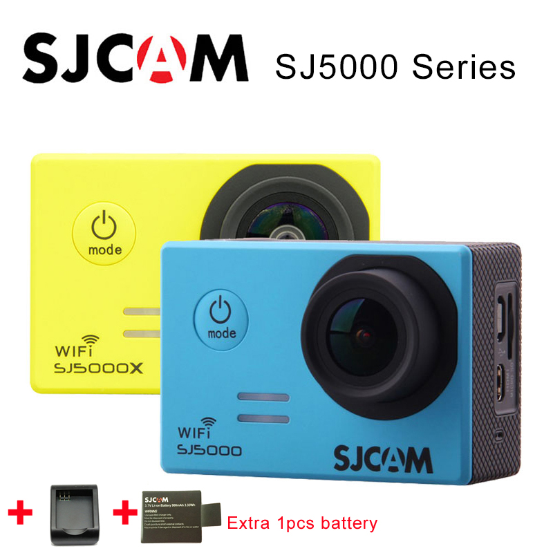 Galleria fotografica Original SJCAM SJ5000 Series SJ5000 WiFi SJ5000X Elite 4K Sports Action Camera SJ cam +Extra 1pcs battery + Charger