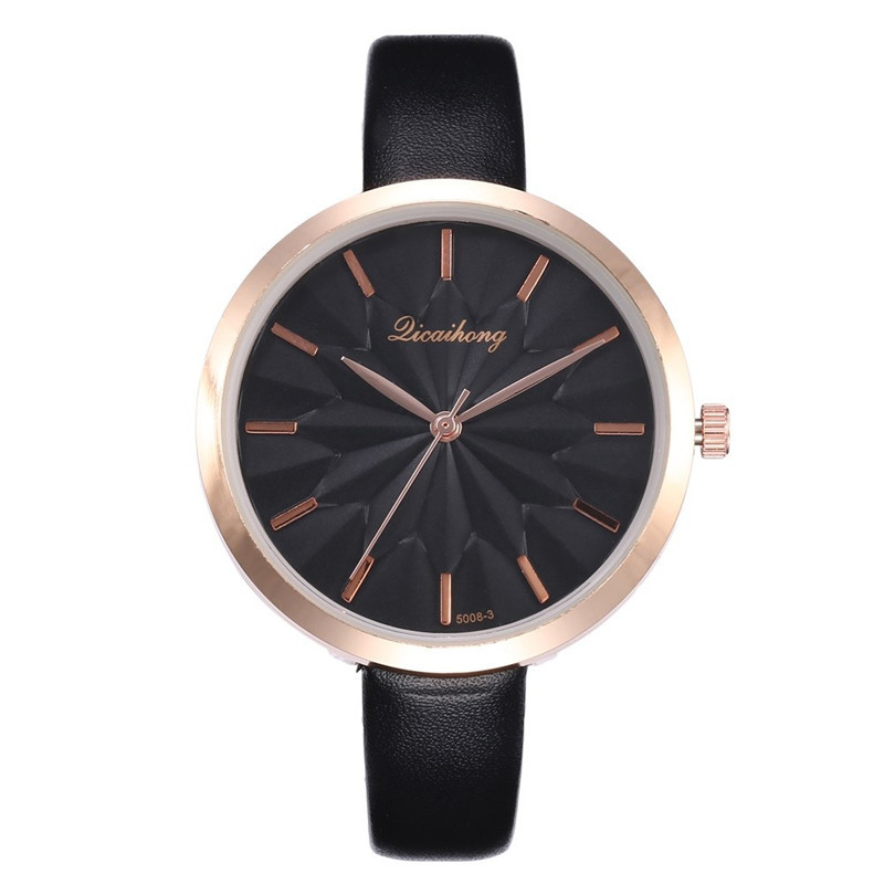 Womens Watches Fashion Leather Band Analog Quartz Round Wrist Watch Montre Femme Petit Cadran Relogio Feminino Dames Horloge
