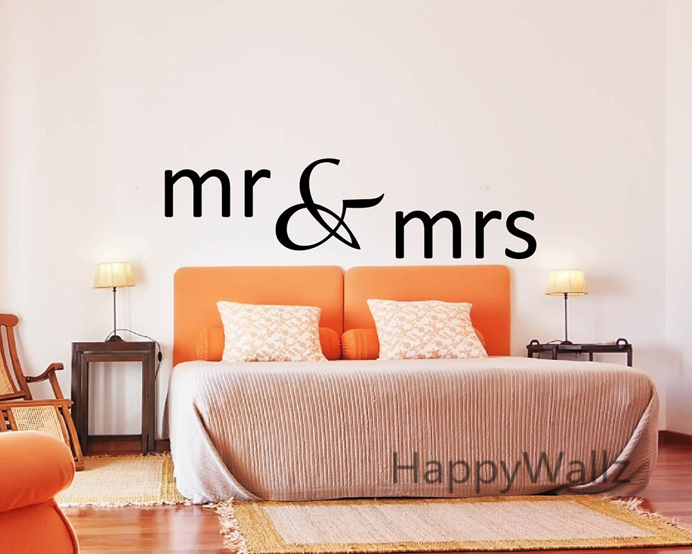 Mr Mrs Love Quotes Wall Sticker Diy Decorative Mr Mrs