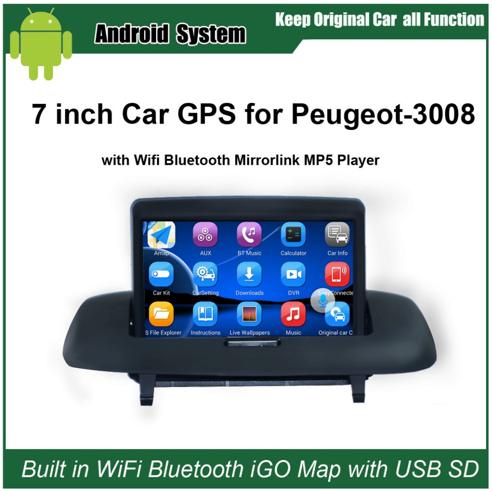 Android 7.1 Upgraded Original Car Radio Player Suit to Peugeot 3008 Car Video Player Built in WiFi GPS Navigation BluetoothAndroid 7.1 Upgraded Original Car Radio Player Suit to Peugeot 3008 Car Video Player Built in WiFi GPS Navigation Bluetooth