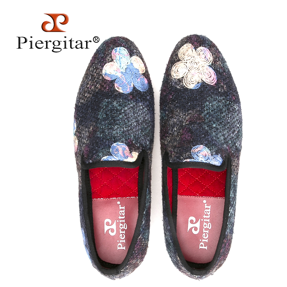 New mixed color knitted fabric men shoes with printing flower wedding and party men loafers fashion ethnic style men's flats rakesh kumar tiwari and rajendra prasad ojha conformation and stability of mixed dna triplex