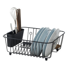 Kitchen Storage Organizer Dish Drainer Drying Rack Metal Kitchen Sink Holder Tray for Plates Bowl Cup Tableware Shelf Basket mini frequency converter frn3 7c1s 4c 3 phase 3 7kw brand new