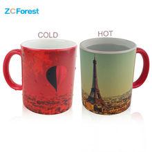 Zauberbecher Wärmeempfindlichen Farbwechsel Kaffeetassen 350 ml 12 unze keramik Heiß Kalt Farbwechsel Teebecher Tasse Designs One Stück