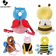 Chivry Baby Head Pillow Infant Toddler Sleep Cute Bee Owl Cartoon Shape Anti Fall Cushion Protection of Newborn