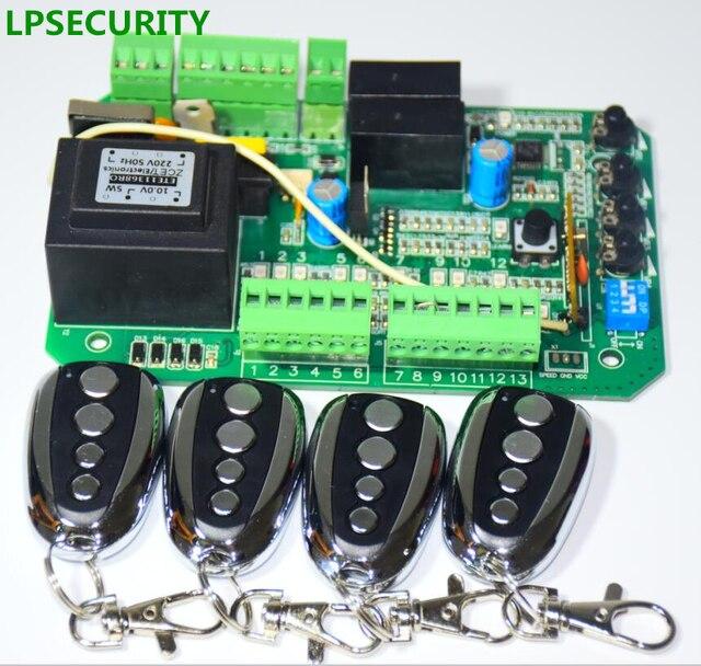 LPSECURITY 4 コンソール自動 AC スライディングゲートオープナーモータ制御ボードカード電源コントローラのマザーボード py600 py800