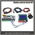 BIQU Rumba impresora 3D tablero de control de Rumba DIY + pantalla LCD 12864 controlador + cable de puente + DRV8825 para reprap impresora 3D