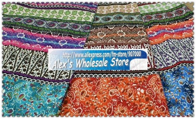 3 color cotton fabric,Bohemia style grogeous textile for skirts/tableware/home textile,2012 New arrival and wholesale