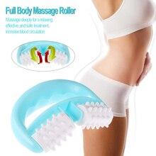 Rodillo masajeador de cuerpo completo, masajeador de cuello con rueda y bola, anticelulítico, para aliviar el dolor de cuello/brazo/pierna, herramienta de masaje de mano