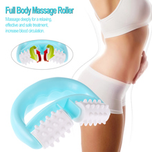 Rolo de célula massageador de pescoço, roda de corpo inteiro, massageador anticelulite para pescoço/braço/perna, alívio de dor no mão ferramenta de massagem