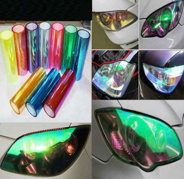 30cmx100cm a roll Car-Styling car headlights taillights lights tint protective vinyl film stickers changing color
