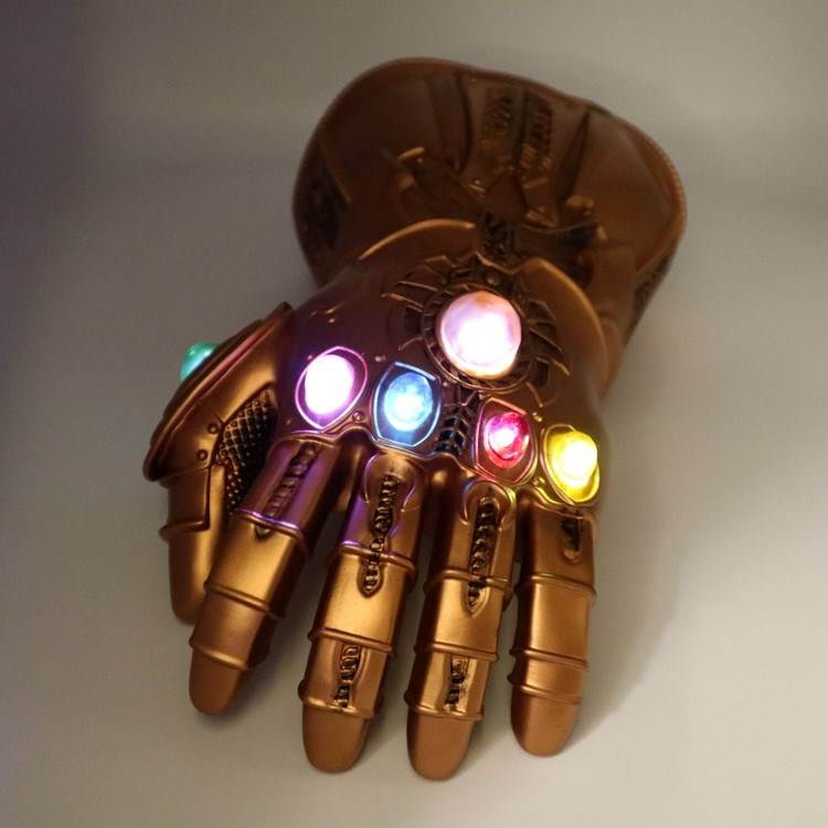 Thanos Infinity Gauntlet Cosplay Costumes Infinity Stones Led Gauntlet Glove Halloween Christmas Gift