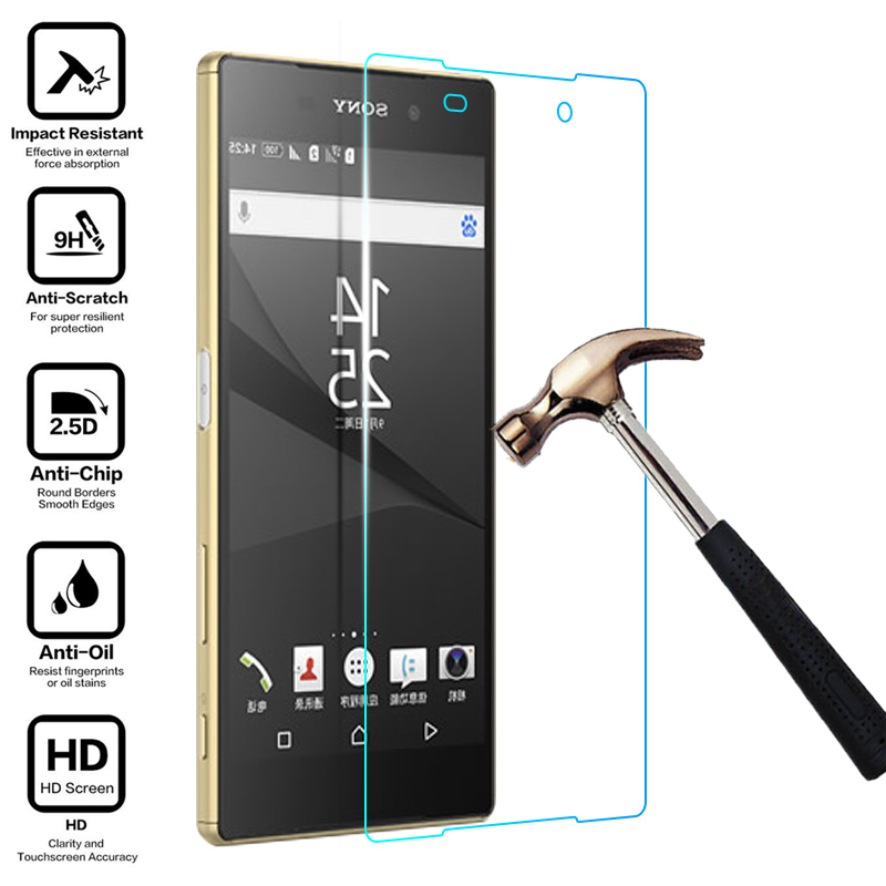 2 Pack Sony Xperia E5 Screen Protector UNEXTATI Premium HD Anti Scratch Tempered Glass Screen Protector Film for Sony Xperia E5