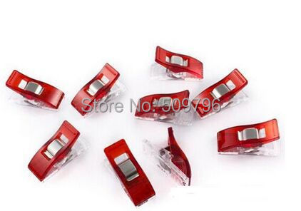 5000pcs Red PVC Plastic Clips For Patchwork Sewing DIY Crafts, Quilt Quilting Clip Clover Wonder Clip 2.7*1CM