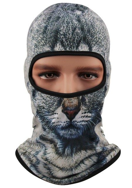Unisex Outdoor Sport Cap 3D Animal Face Hats Bicycle Cycling Motorcycle Mask  Hood Hat Women Scary Ski Viking Balaclava b75aa0009e