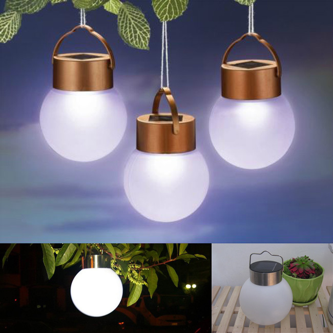 Lumiparty Led Solar Light Ball Lamp Outdoor Waterproof Portable Camping For Outside Garden Tree Decoration In Lanterns From