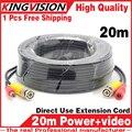 VENDA! Cabos de Alimentação de Vídeo 20 M 3.2FT Fios de Câmera de Segurança para CCTV DVR Sistema de Vigilância Em Casa com DC BNC Conectores de Extensão