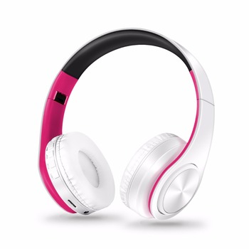 Free Shipping Wireless Bluetooth Headphone Stereo Headset Music Headset Support SD Card with Mic for Mobile Ipad 5