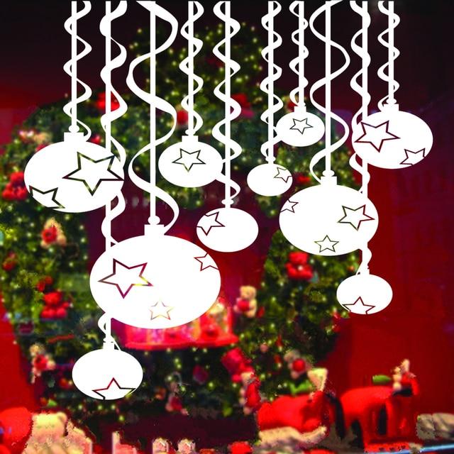 vinyl swirls ribbon star decals holidays christmas winter decorations windows door wall christmas - Window And Door Christmas Decorations