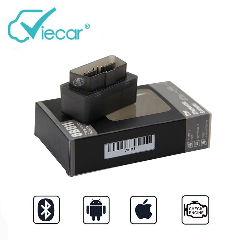 Viecar Elm327 V1.5 OBD2 Bluetooth Adapter Auto Scanner ulme 327 1,5 OBD Bluetooth 4,0 Auto Diagnose Werkzeug Smart Werkzeuge Für iPhone