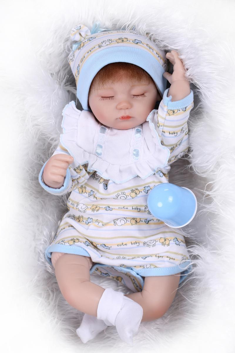 ФОТО Adora 17 Inch 43 Cm Mini Reborn Silicone Sleeping Girl Doll Hot Sell Baby Dolls For Girls Best Christmas Gift For Babies As Toys