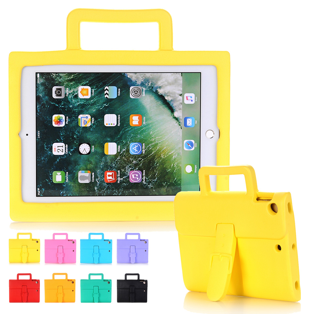 New Briefcase Kids Shockproof Case for iPad Air 2 EVA Foam Handle Stand Tablet Child Case Cover for iPad Air2 iPad 6 Coque Capa coque case for ipad air 2 durable heavy duty 3 in 1 hybrid rugged case shockproof cover capa for ipad 6 9 7 case with stand
