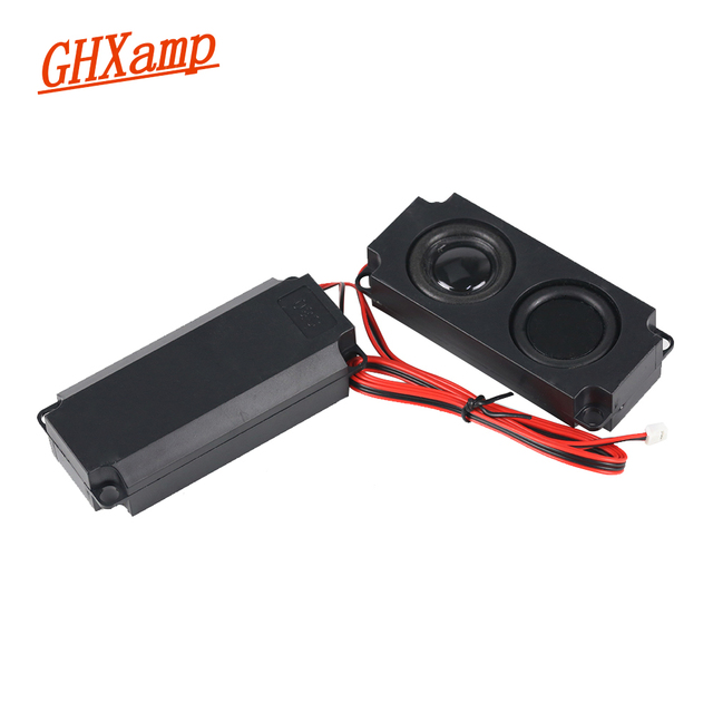 GHXAMP 8OHM LCD TV Speaker Massage Passive Advertising Vibration Diaphragm MINI Speaker Repairs Amplifier Accessories DIY 5W 2PC
