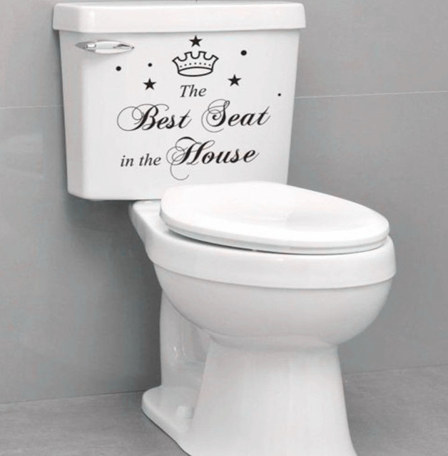 Quote Funny Toilet Stickers 313