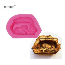 Gadgets-Lion Tomb statue silicone mold - Silicone Soap / Polymer Clay Cold Porcelain Plaster- Mold