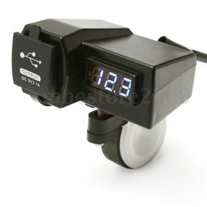 """Image 2 - 1 Cái Đa Năng 12V 7/8 """"& 1"""" Xe Máy ATV Tay Cầm Dual USB Ổ Cắm Sạc Điện dành Cho Điện Thoại Di Động GPS MP3 V. V..."""