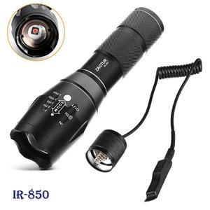 Image 1 - Infrared IR 850 Flashlight 850nm IR LED Flashlight Torch Camera Fill Light 18650 Flashlight Tactical Remote Control Tail Switch