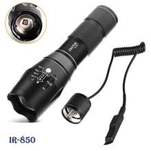 Infrarot IR 850 Taschenlampe 850nm IR LED Taschenlampe Torch Kamera Füllen Licht 18650 Taschenlampe Taktische Fernbedienung Schwanz Schalter