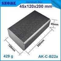 1 Piece Free Shipping Aluminum Radiator Enclosures Black Color Big Aluminum Metal Project Case Housing For