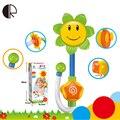 Brinquedos para o Banho do bebê Presente Das Crianças Girassol Chuveiro Torneira Do Banho Brinquedo Aprendizagem HT3534 Piscina Ferramenta de Pulverização de Água Frete Grátis