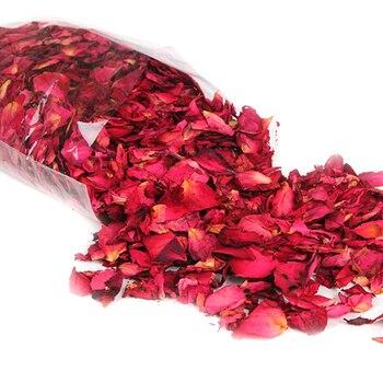 Nouveau Romantique 30/50/100g Naturel Séché Rose Pétales Bain Sec Fleur Pétale Spa Blanchissant Douche Aromathérapie Bain Approvisionnement