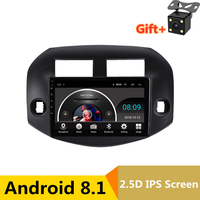 10.1 2.5D IPS Android 8.1 Car DVD Multimedia Player GPS For Toyota RAV4 2007 2010 2011 2012 audio car radio stereo navigation