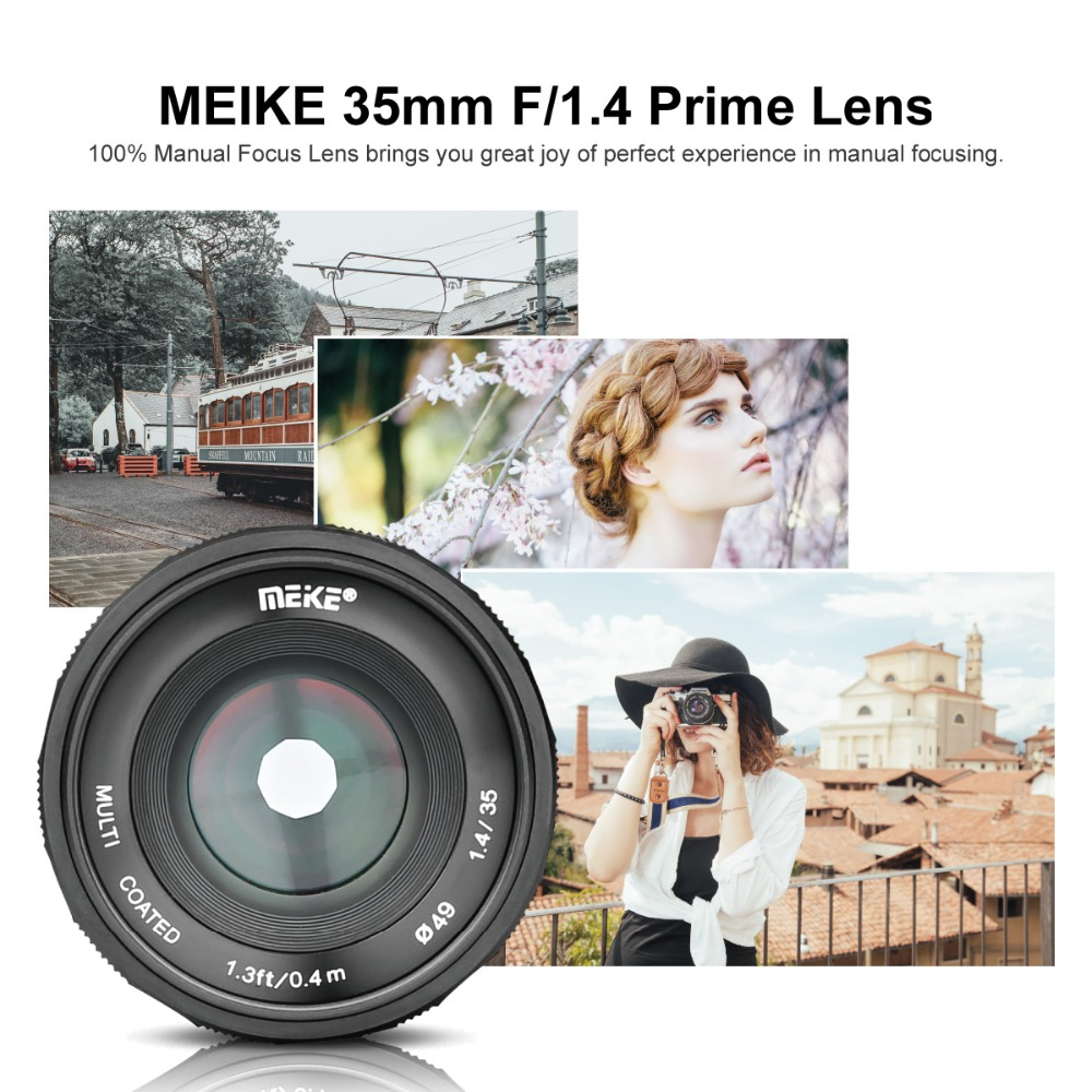 Image 2 - Meike MK 35 1.4 35mm f1.4 Large Aperture Manual Focus lens APS C for Fujifilm XT100/XT3/XE2/XE2s/XE3/XE1/X30/X70/XT2/XA1/XPro1-in Camera Lens from Consumer Electronics